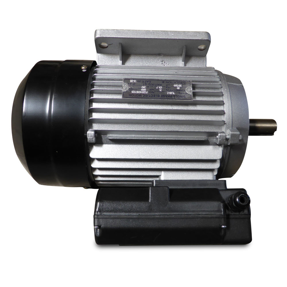 Electrical motor single phase 240v 3hp 2850rpm shaft for Electric motor shaft types