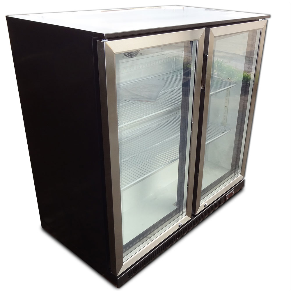 2 door under bench display fridge refrigerator with