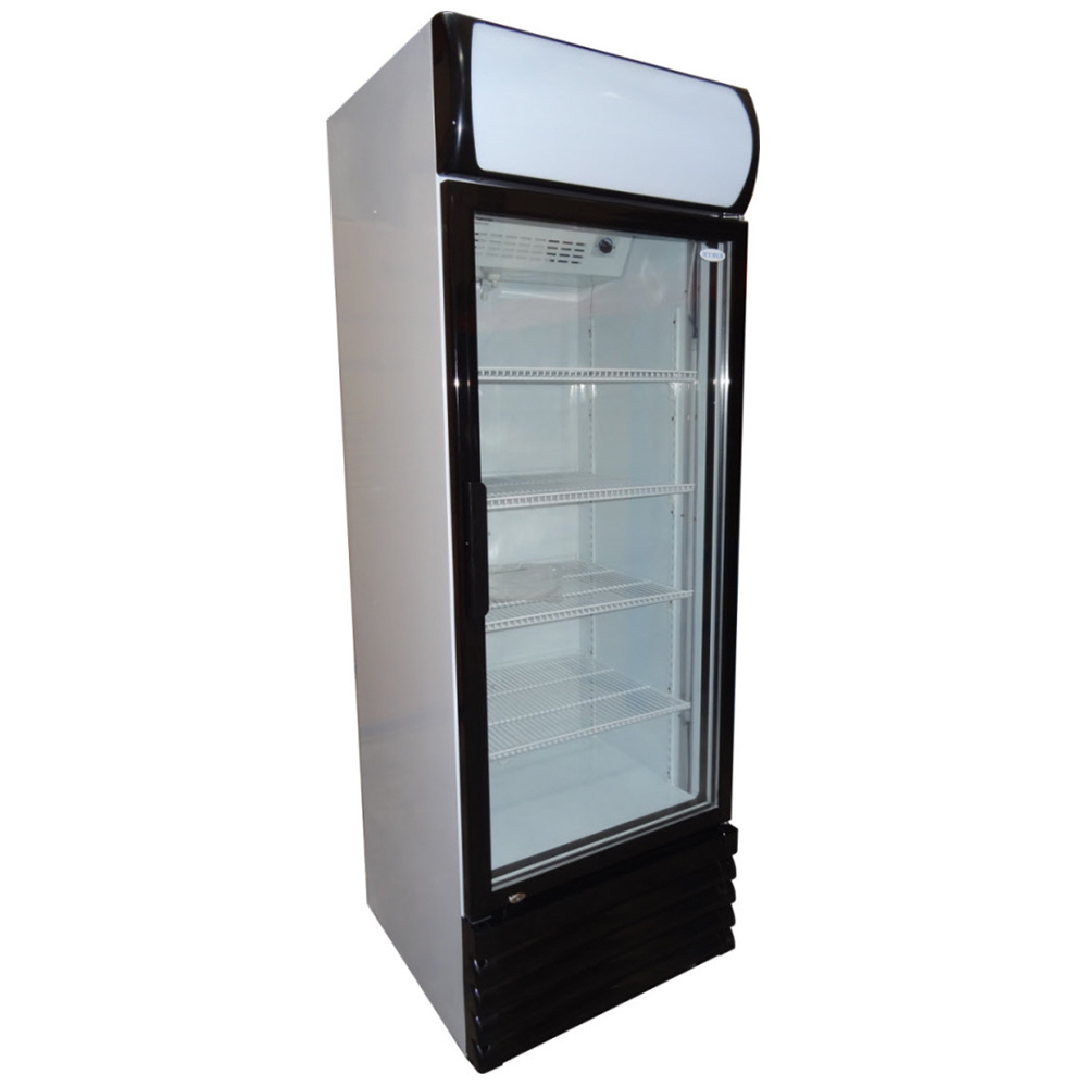 New commercial upright single door drinks fridge chiller for 1 door chiller