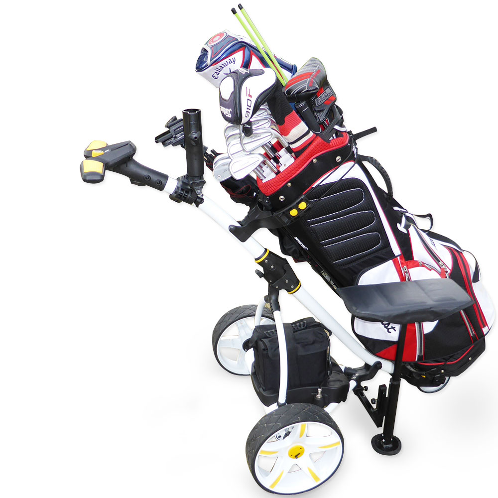 Pro Caddy Golf Trolley Buggy 400w Linix Motors Usb Charger With Lithium Battery Ebay