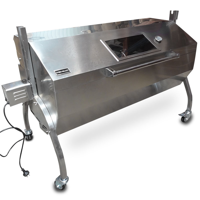 Large Stainless Steel 60kg Bbq Charcoal Pig Spit