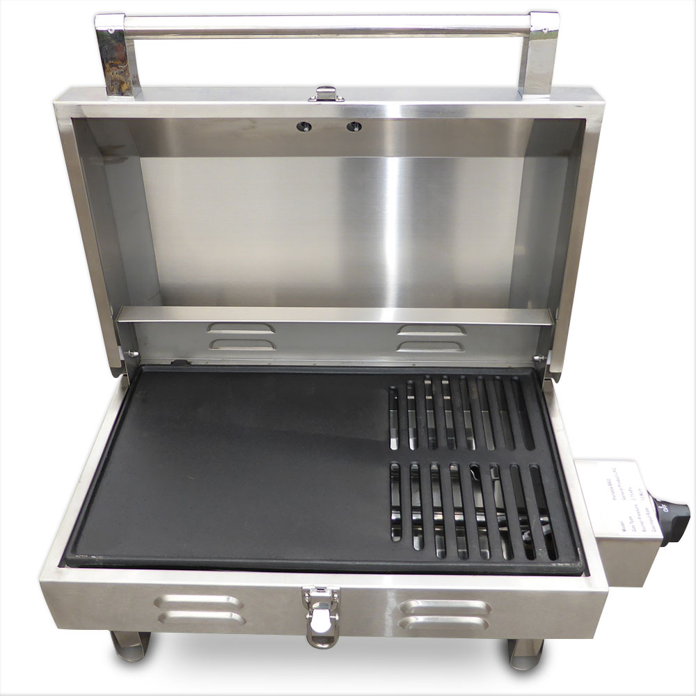 Euro grand portable stainless steel gas bbq grill