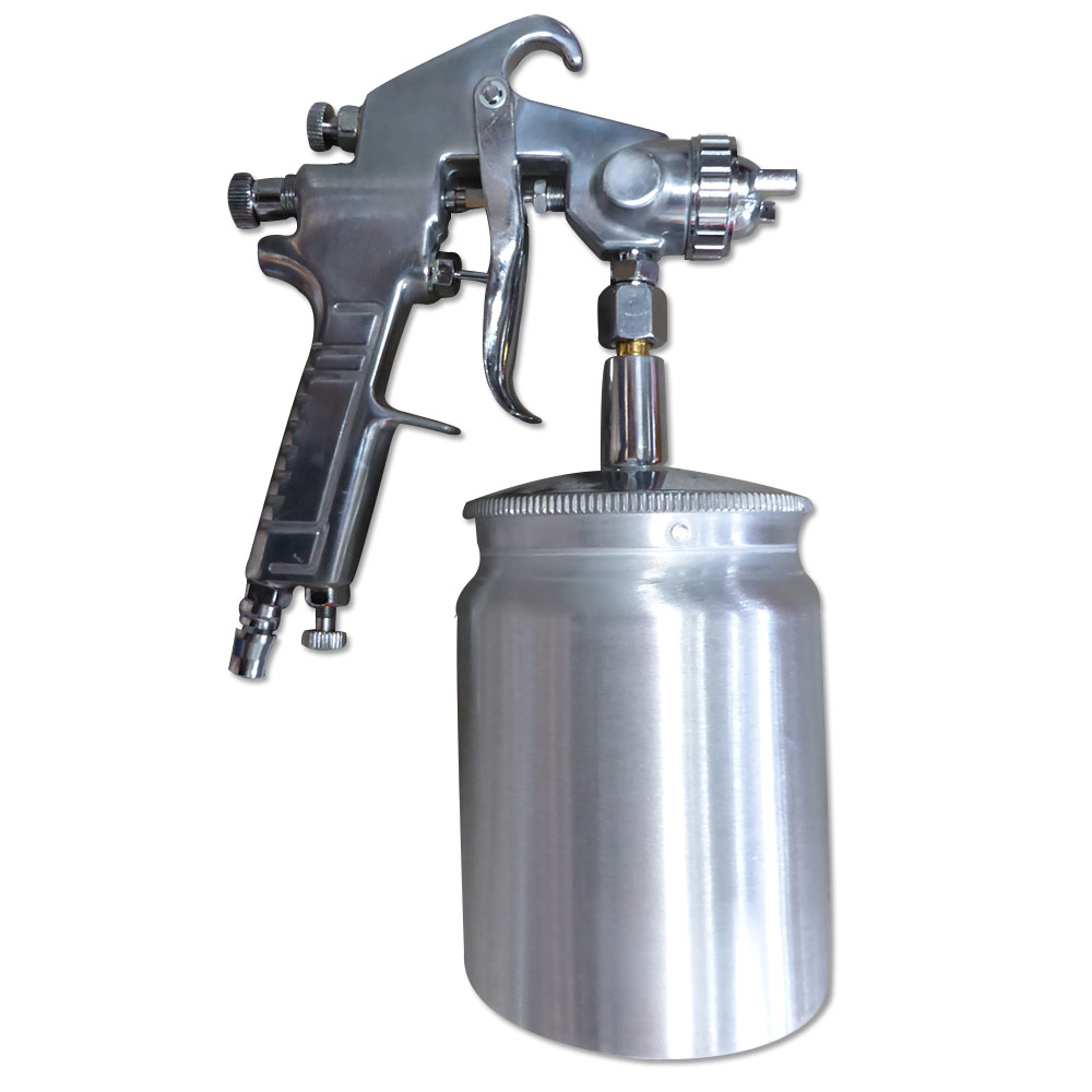 suction feed heavy duty paint spray gun 600ml 1 4 air