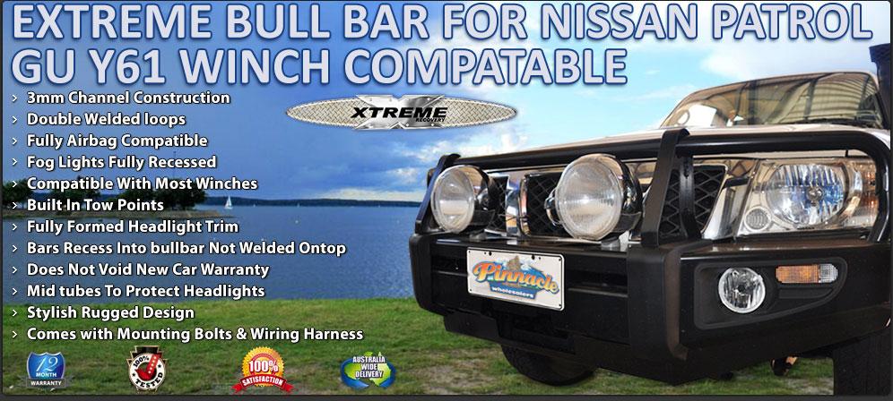 Nissan Patrol Tow Bar Wiring Harness : Extreme winch bull bar for nissan patrol gu y australian