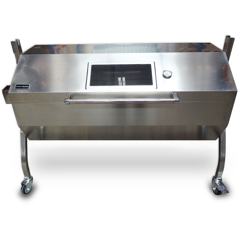 Rotisseries with a vertical spit are ideal for saving space. Some rotisseries also come with accessories to cook other food such as kebabs, vegetables, and ribs.